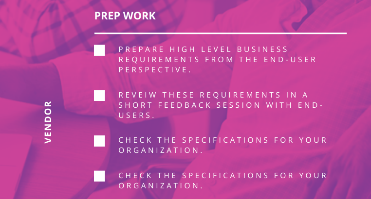 Checklist_Choose the Right Vendor_Prep Work