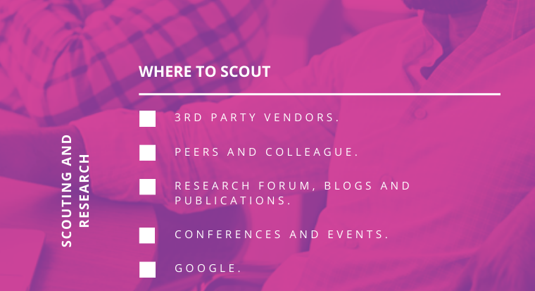 Checklist_Choose the Right Vendor_Where to Scout_