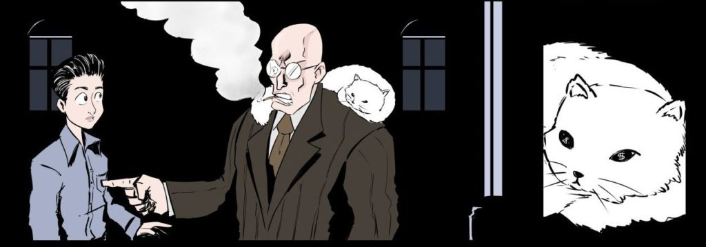 comic-cat-man-office-horror